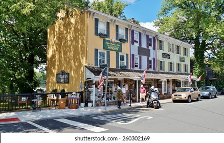 LAMBERTVILLE, NJ -CIRCA AUGUST 2014- Editorial: The charming historic town of Lambertville, located on the Delaware River in Hunterdon County, is nicknamed the ??antiques capital of New Jersey
