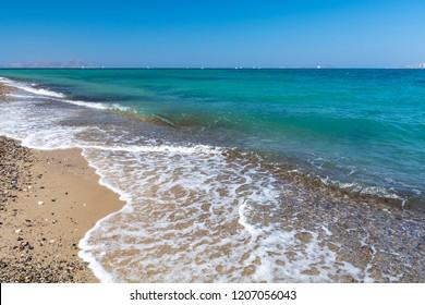 Lambi beach on Greek island Kos, Dodecanese, Greece