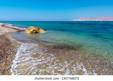 lambi beach on Kos island, Greece