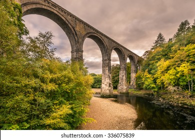 Lambley Viaduct in the South Tyne Valley / The Lambley Railway Viaduct was built in 1852 and towers over the River South Tyne in Northumberland. There are 9 arches which support a deck 32 metres above
