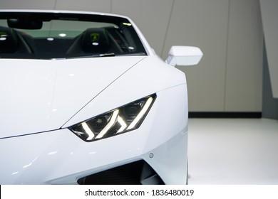 Lamborghini Huracán EVO RWD Spyder on display at THE 41st BANGKOK INTERNATIONAL MOTOR SHOW 2020 on July 14, 2020 in Nonthaburi, Thailand.