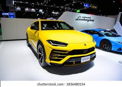 Lamborghini URUS on display at THE 41st BANGKOK INTERNATIONAL MOTOR SHOW 2020 on July 14, 2020 in Nonthaburi, Thailand.