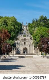 LAMEGO, PORTUGAL - CIRCA MAY 2019: Nossa Senhora dos Remedios Church, Lamego, Tras-Os-Montes, Portugal