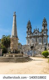 LAMEGO, PORTUGAL - CIRCA MAY 2019: Nossa Senhora dos Remedios Church, Lamego, Tras-Os-Montes, Portugal.