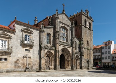 LAMEGO, PORTUGAL - CIRCA MAY 2019: View of the Se the Lamego, one of the oldest churches in Portugal.