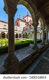 LAMEGO, PORTUGAL - CIRCA MAY 2019: Cloister of Lamego Cathedral.