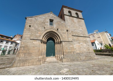 LAMEGO, PORTUGAL - CIRCA MAY 2019: The Church of Santa Maria de Almacave, is a 12th-century Portuguese Romanesque monument.