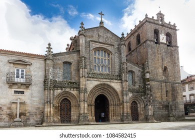 LAMEGO, PORTUGAL - FEBRUARY 26, 2017: cathedral of Lamego, in Portugal