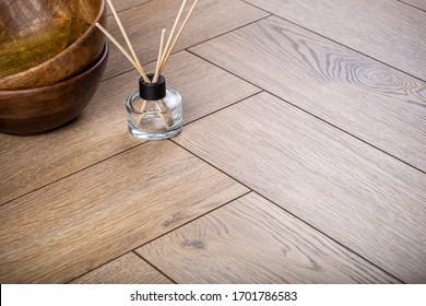 Laminate background. Wooden laminate and parquet boards for the floor in interior design. Texture and pattern of natural wood.