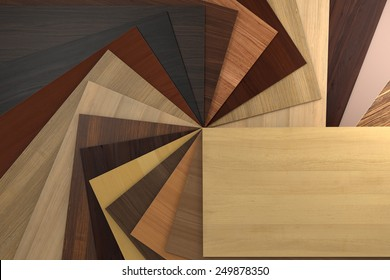 Laminated chipboards.