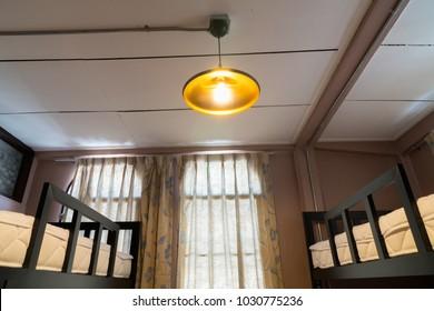 Lamp in bedroom hostel
