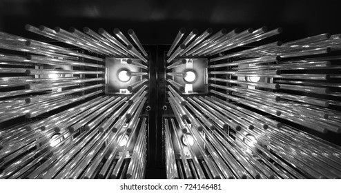 Lamp decoration abstract art black and white