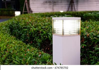 Lamp in a garden