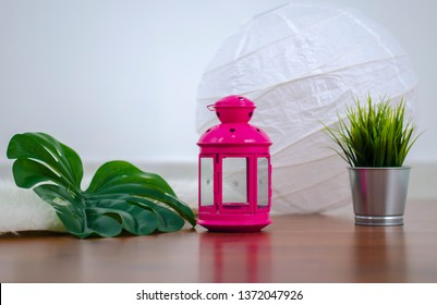 Lamp with Grass