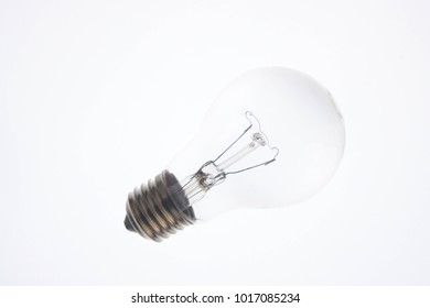 A lamp isolated on white background, energy, glass, power