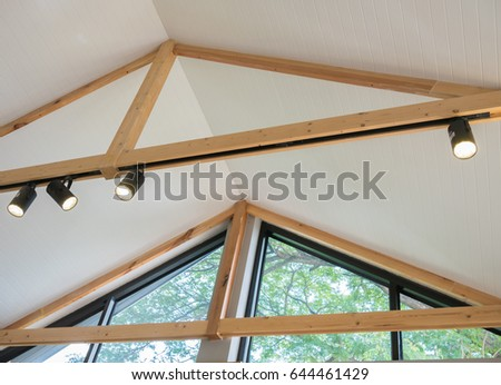 lamp light roof coffee shop interior stock photo edit now rh shutterstock com