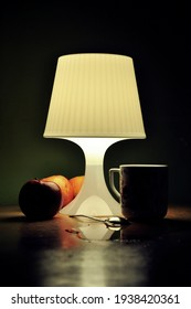 Lamp in the night with still life - Shutterstock ID 1938420361