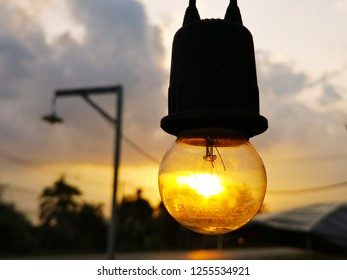 lamp on the sky