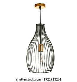 Lamp on white background and free space for your decoration.