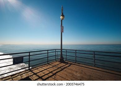 The Lamp pillar at the Santamonica pier.