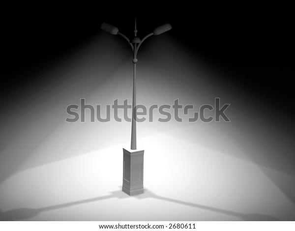 Lamp Post. 3d