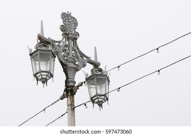lamp post in Brighton with electric cable running pass it