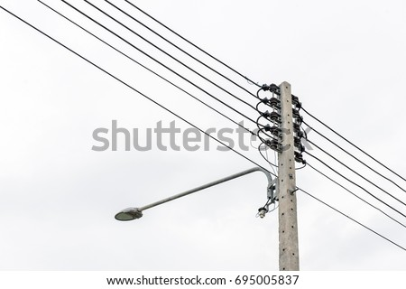 Enjoyable Lamp Post Electric Pole Connect High Stock Photo Edit Now Wiring 101 Akebretraxxcnl