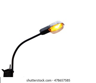 lamp post isolated object on white background electricity industry.