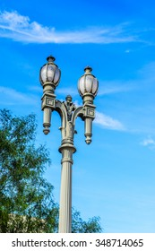 Lamp post in Los Angeles, California.
