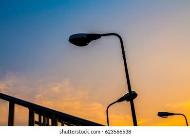 lamp post silhouette