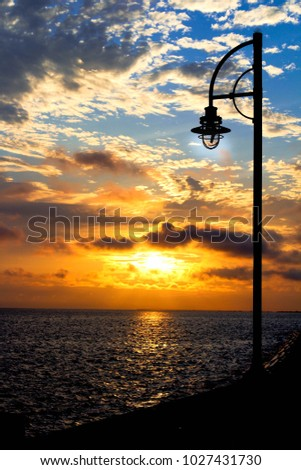 Lamp Post Sunrise Over New Orleans Stock Photo Edit Now 1027431730