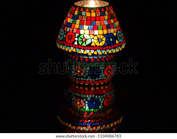 Lamp shade with reflection