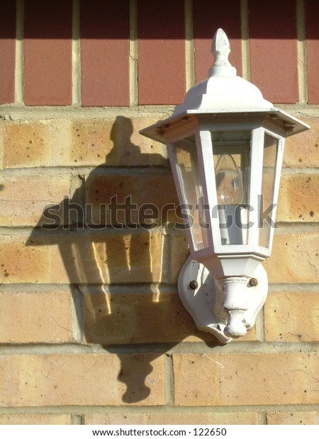 Lamp with a shadow