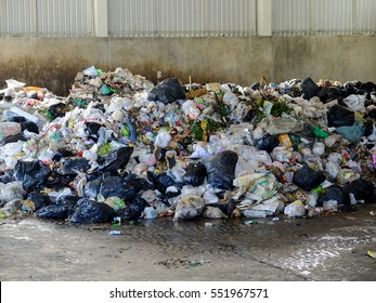 LAMPANGPROVINCE, THAILAND-DECEMBER 7 2016, Plastic and metallic waste from household in waste landfill. Recyclable waste in dump site