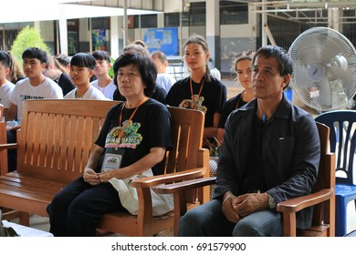 LAMPANG-THAILAND-JULY,29,2017: Unidentified Student,Staff,Volunteers teacher team professional from New Zealand in English camp ceremony at Pracharatthammakhun School in Ngao, The north of Thailand.