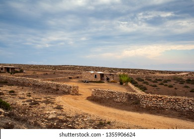 LAMPEDUSA, ITALY - AUGUST, 04: View of typical house called Dammuso in Lampedusa on August 04, 2018