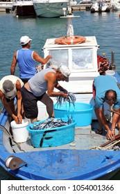 Lampedusa, Italy, August/08/2011, view of Lampedusa harbor
