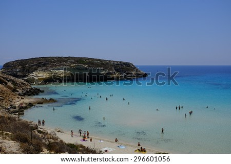 Lampedusa Italy July 05 Some Boats Stock Photo Edit Now 296601056