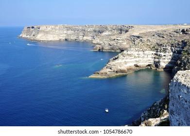 Lampedusa, Italy, view of Lampedusa coastline