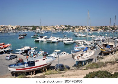Lampedusa, Italy, view of Lampedusa harbor