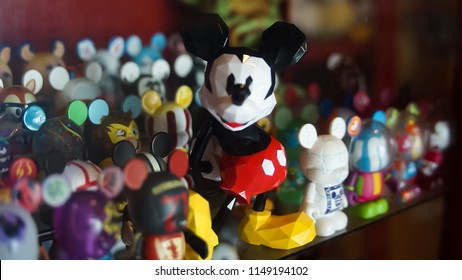 Lamphun, Thailand - June 23, 2018 : Mickey Mouse in the Mickey Mouse museum .