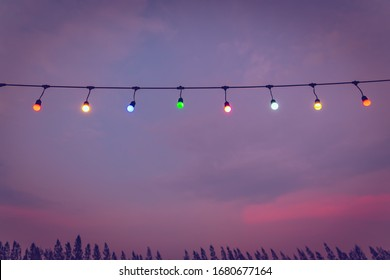 Lamp.Lamp background.Lamps with a backdrop of sky in evening sky.