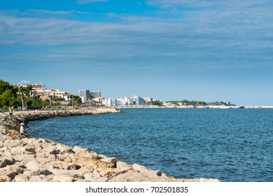 L'AMPOLLA, SPAIN - AUGUST 06, 2017: View of typical mediterranean town. L'Ampolla