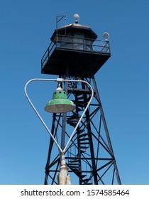 Lamppost at Alcatraz guard tower