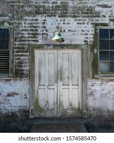 Lamppost at Alcatraz San Francisco