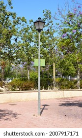 Lamppost on Plaza San Diego in Santa Faz a town in the province of Alicante Spain