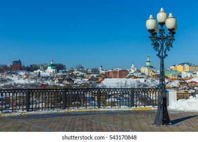 Lamppost on the view point, Vladimir, Russia.