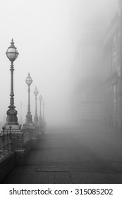 Lamps in the fog.