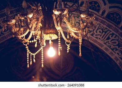 lamps at night