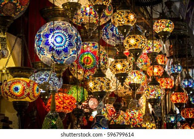 Lamps on a bazar in istanbul